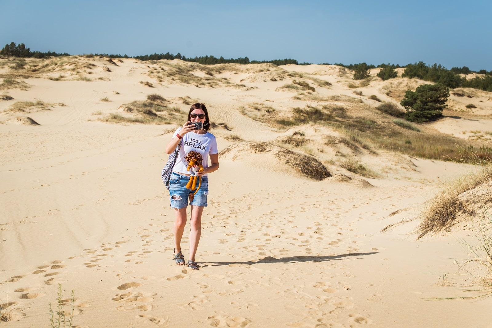 Фото Олешковских песок