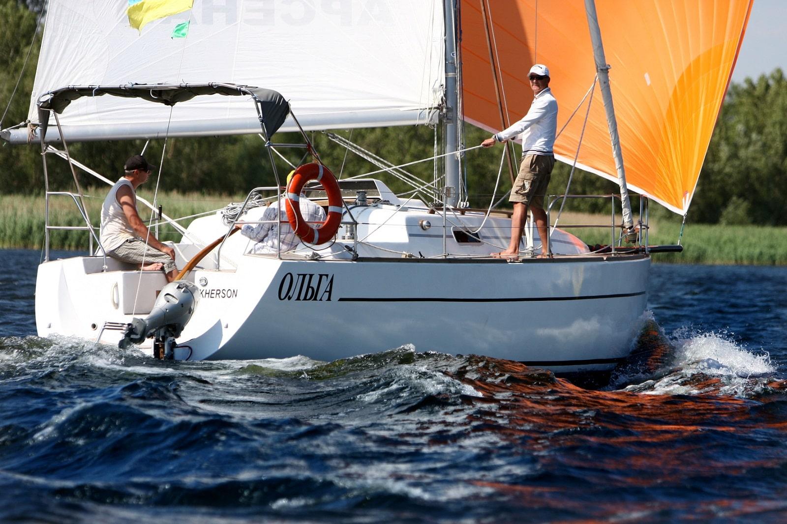 Капитан на яхте Ольга