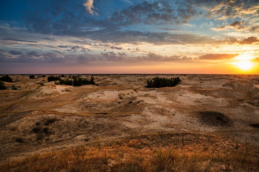 Олешківські піски, Україна