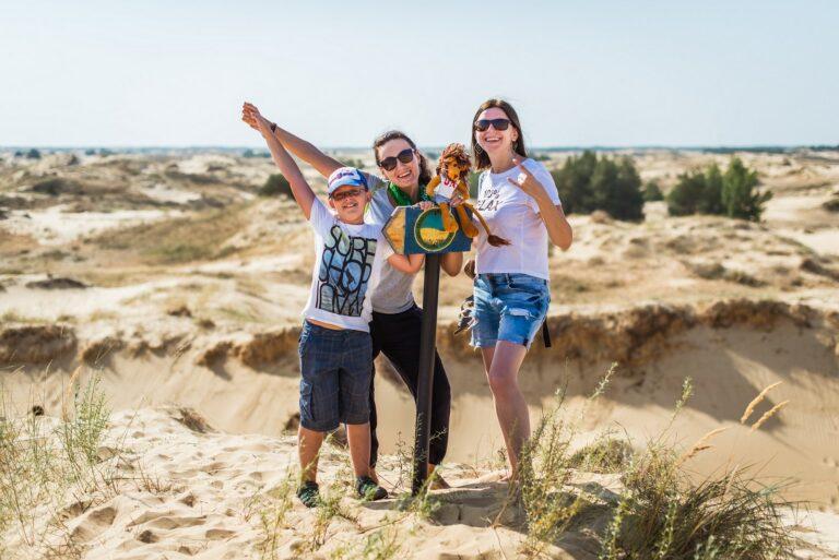 Фото в Олешківських пісках