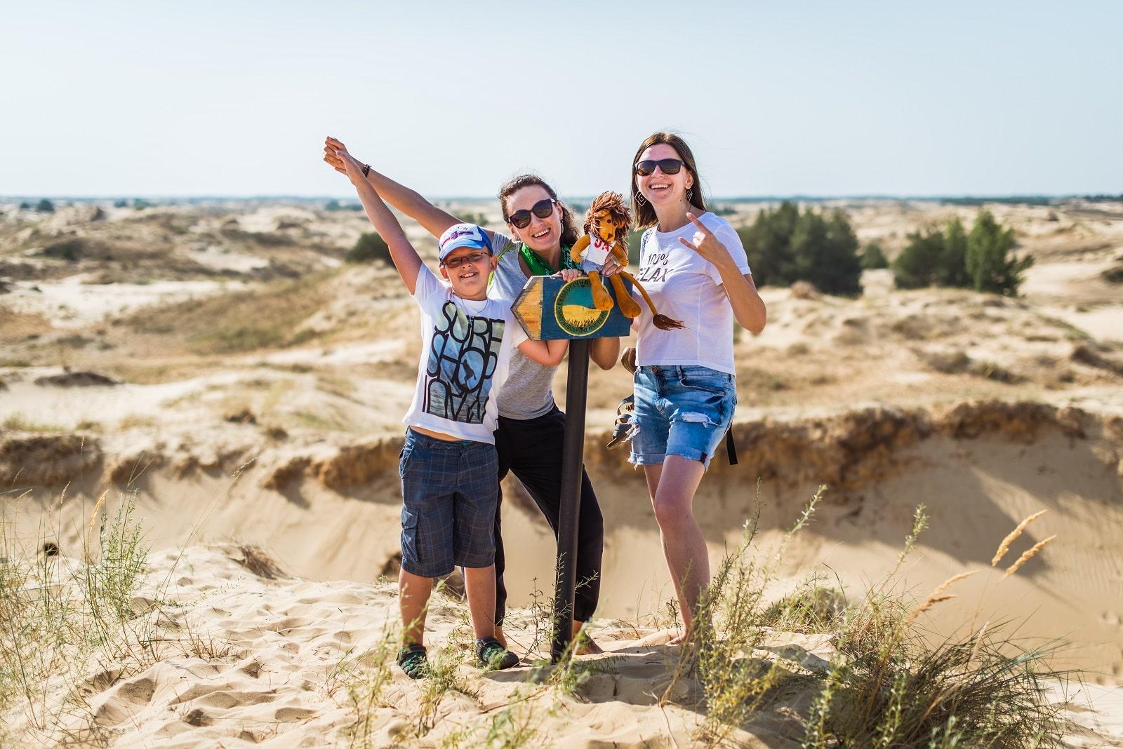 Фото в Олешковских песках