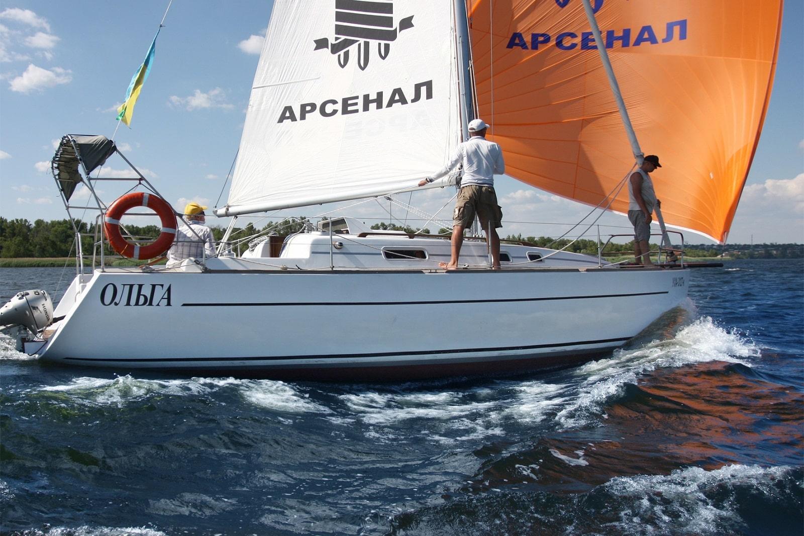 Управление яхтой Ольгой