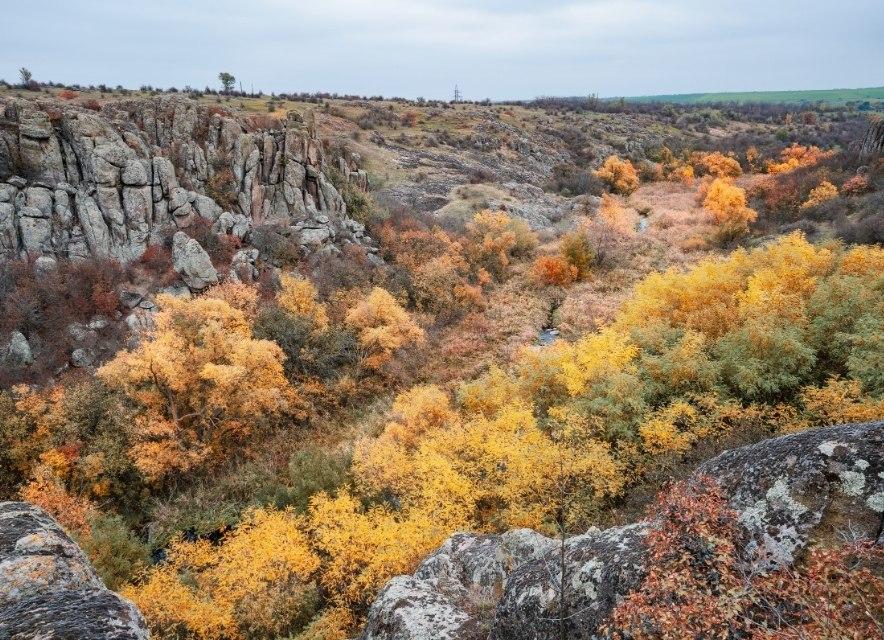 Актовський каньйон восени