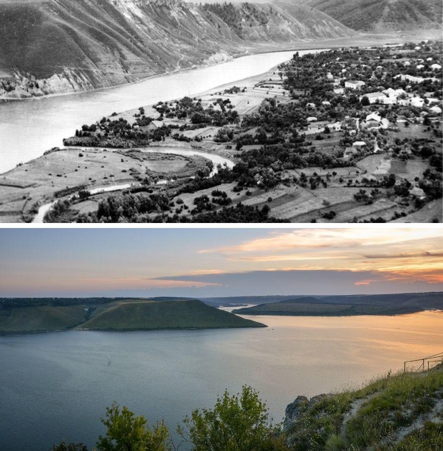 Бакота до та після затоплення