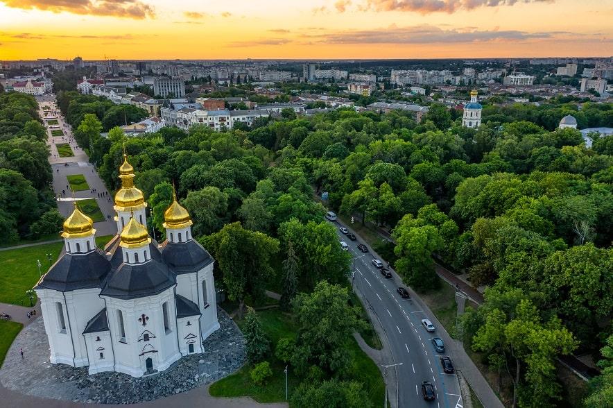 Вид на Чернігів