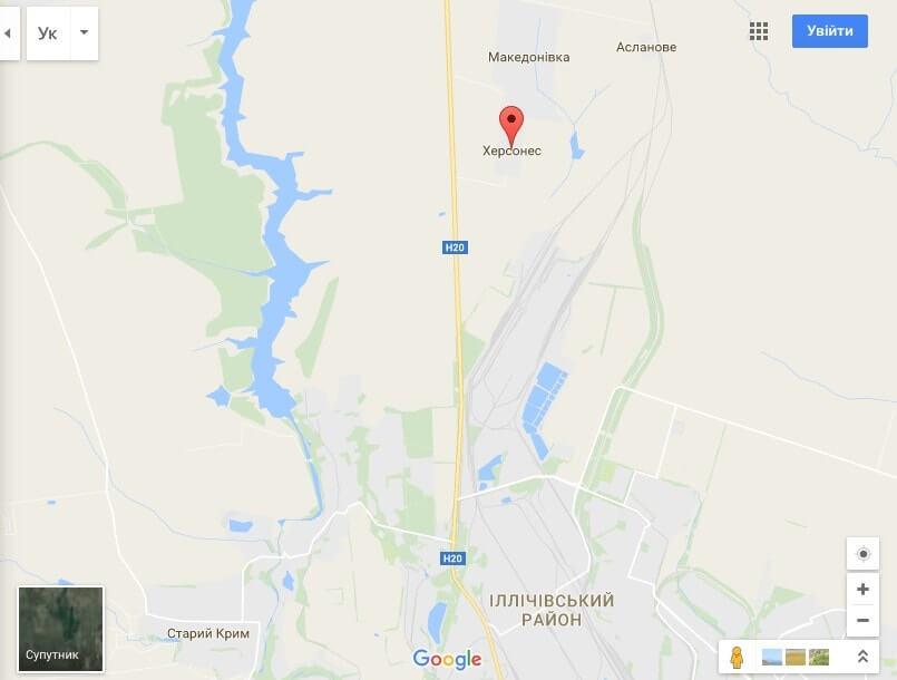 Карта восточной части Украины