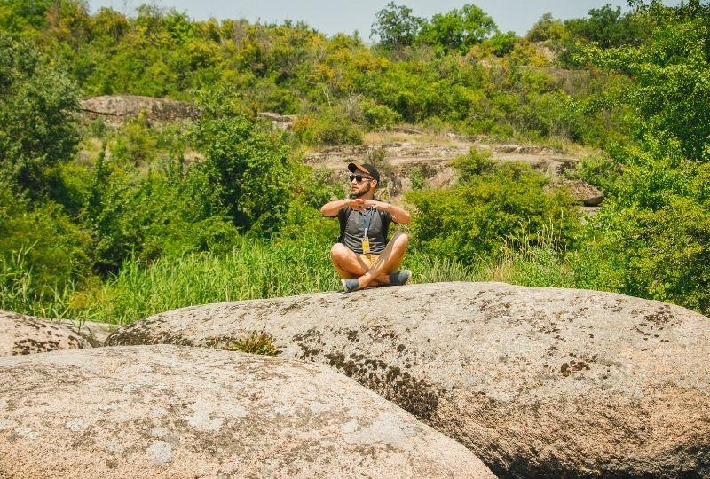 На каменях в Актовському каньйоні