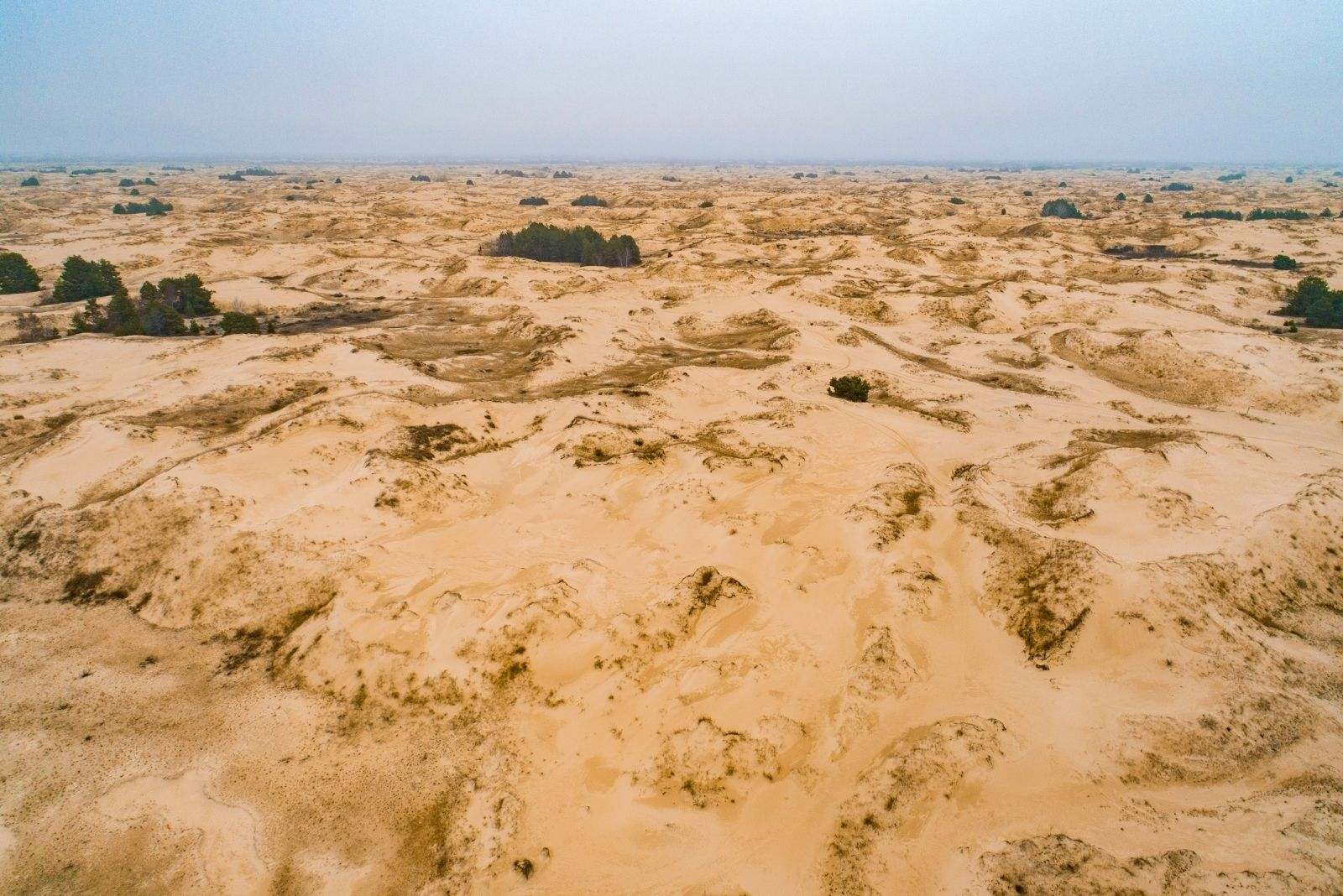 Олешковские пески осенью