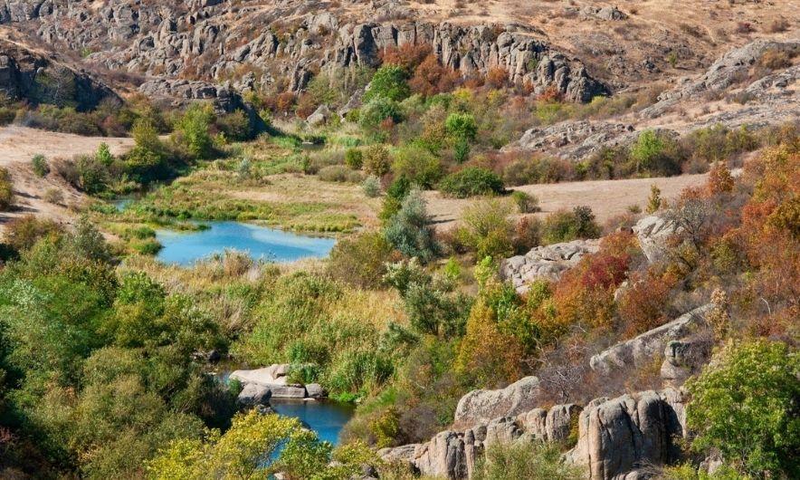 Вид на Арбузинский каньон