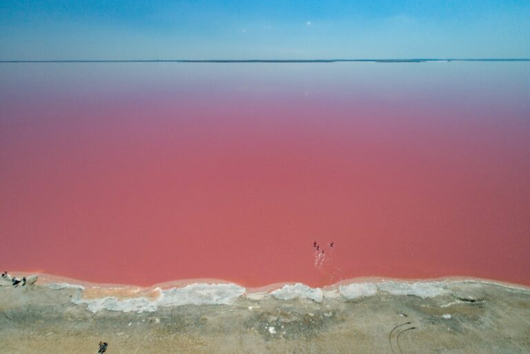 Розовое озеро вблизи села Ивановка