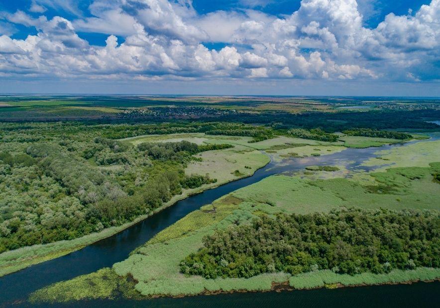 Устье Днепра в Херсоне