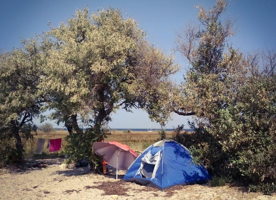 Отдых в палатке на Джарылгаче