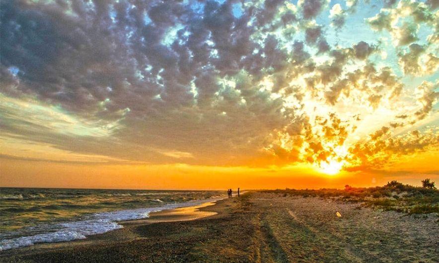 Захід соняця на Джарилгачі