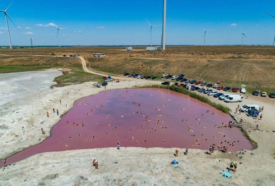 Лемурийское розовое озеро