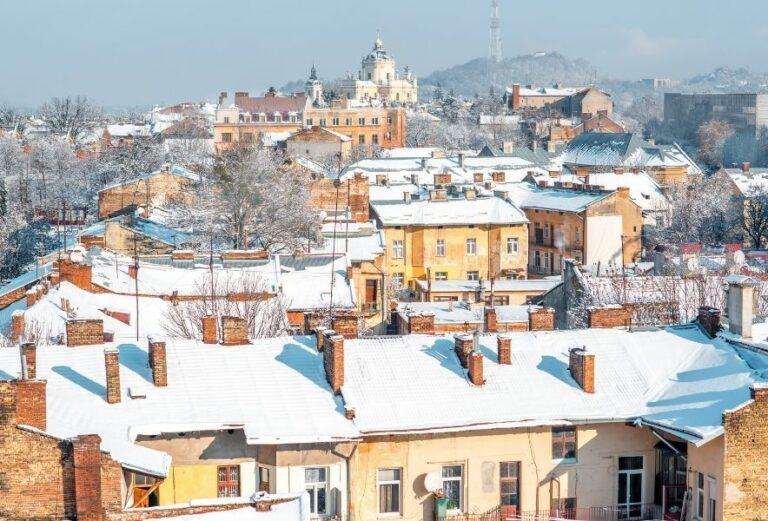 Вид згори на місто Львів
