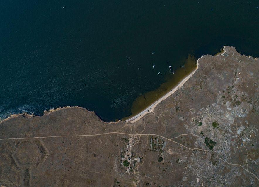 Острів Березань з висоти