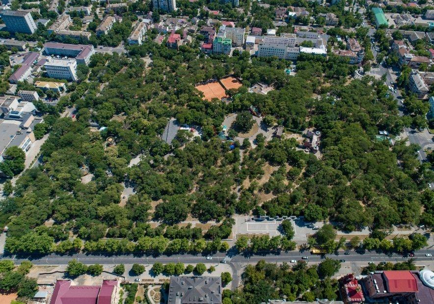 Парк с высоты