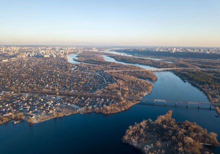 Река Днепр, Киев