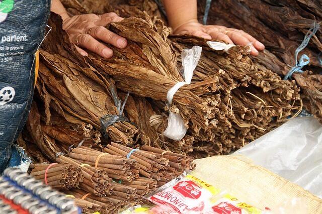 Сушеные листья табака