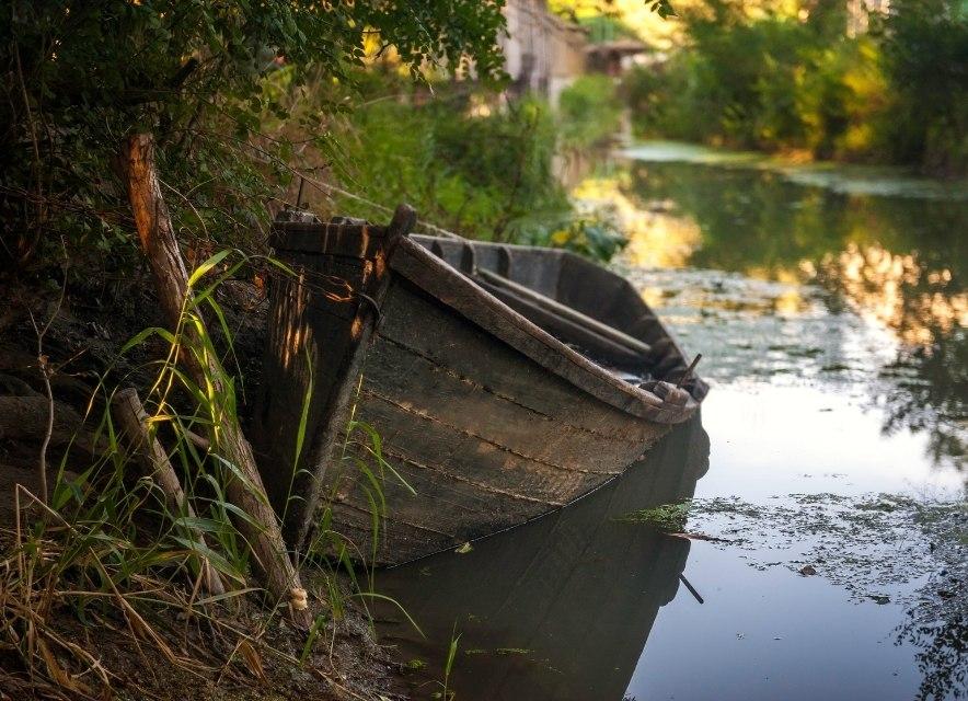 Човен у Вилково