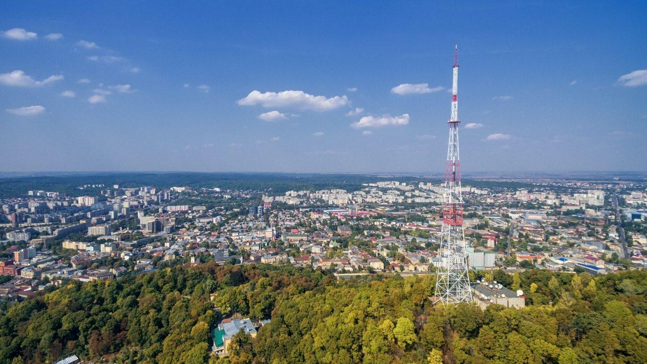 Вид на город Львов с Замковой горы