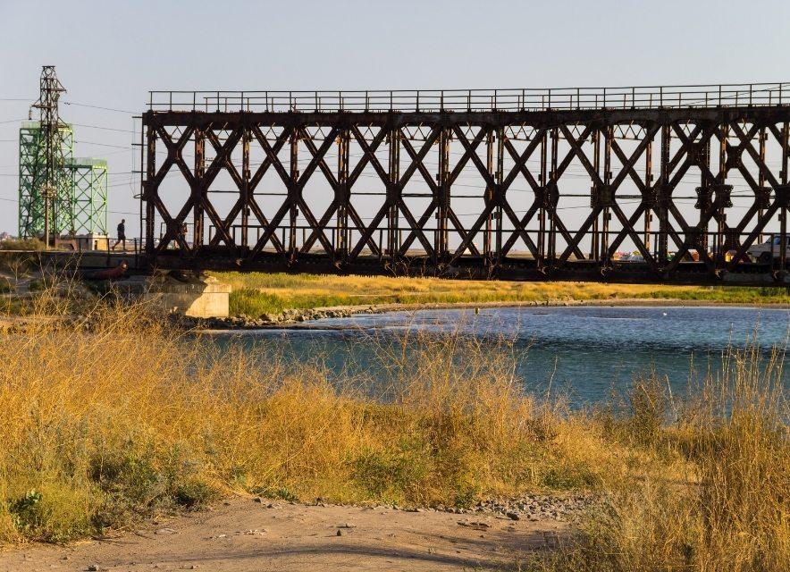 Залізний міст в Генічеську