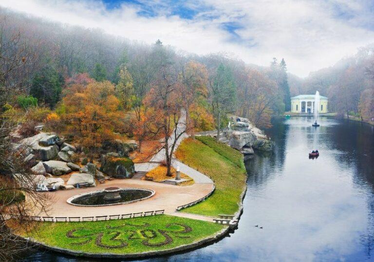 Софиевский парк сверху