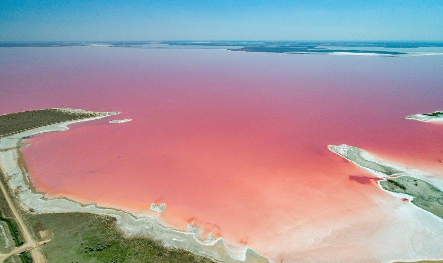 Розовое озеро, Херсонщина