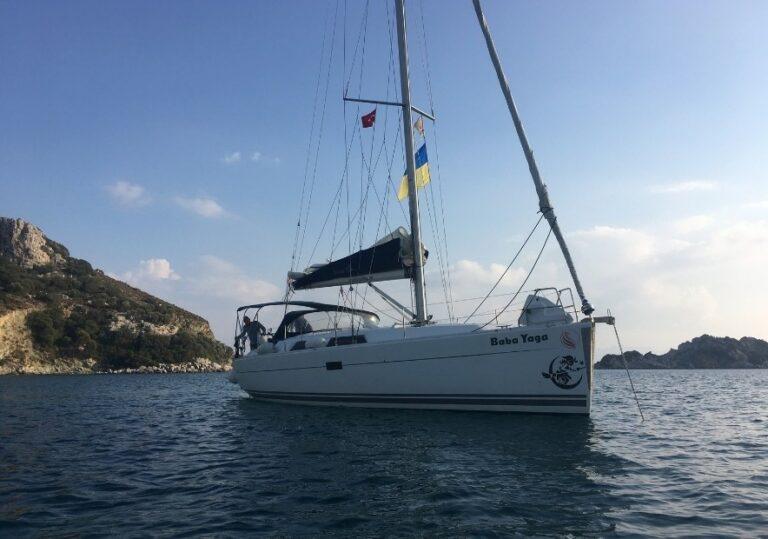 Наша яхта в Турции