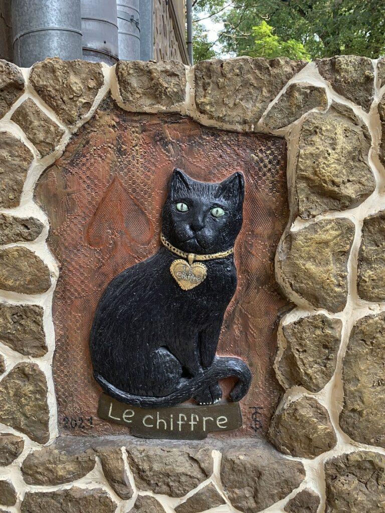 Портрет черной кошки