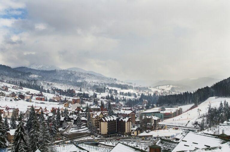 Вид на зимний Буковель